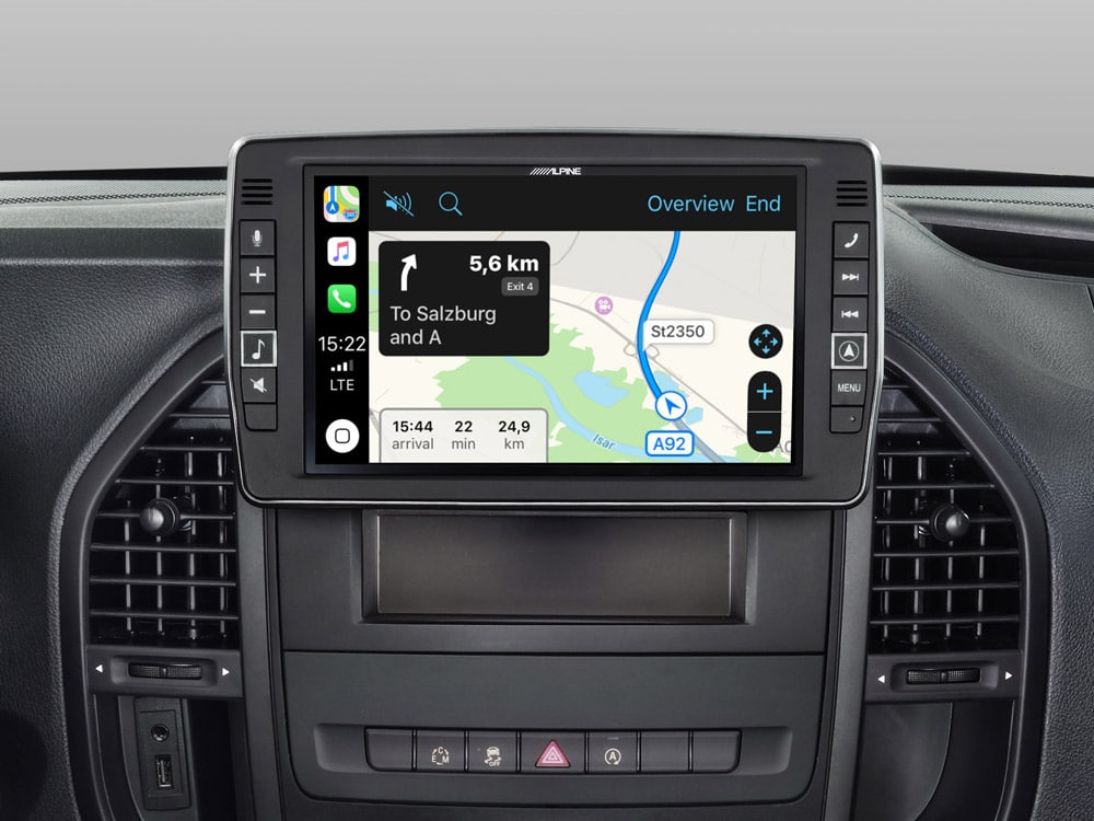 Mercedes-Vito-Apple-CarPlay-Map-X902D-V447