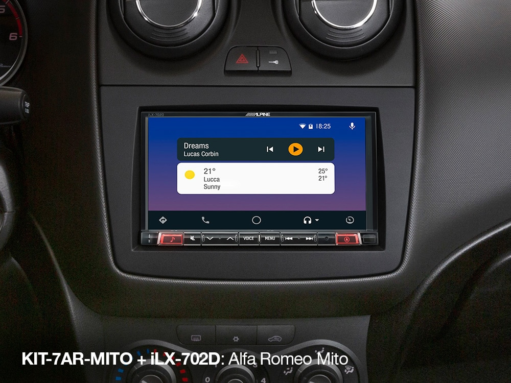 Android-Auto-Screen-in-Alfa-Romeo-MITO_iLX-702D_with_KIT-7AR-MITO