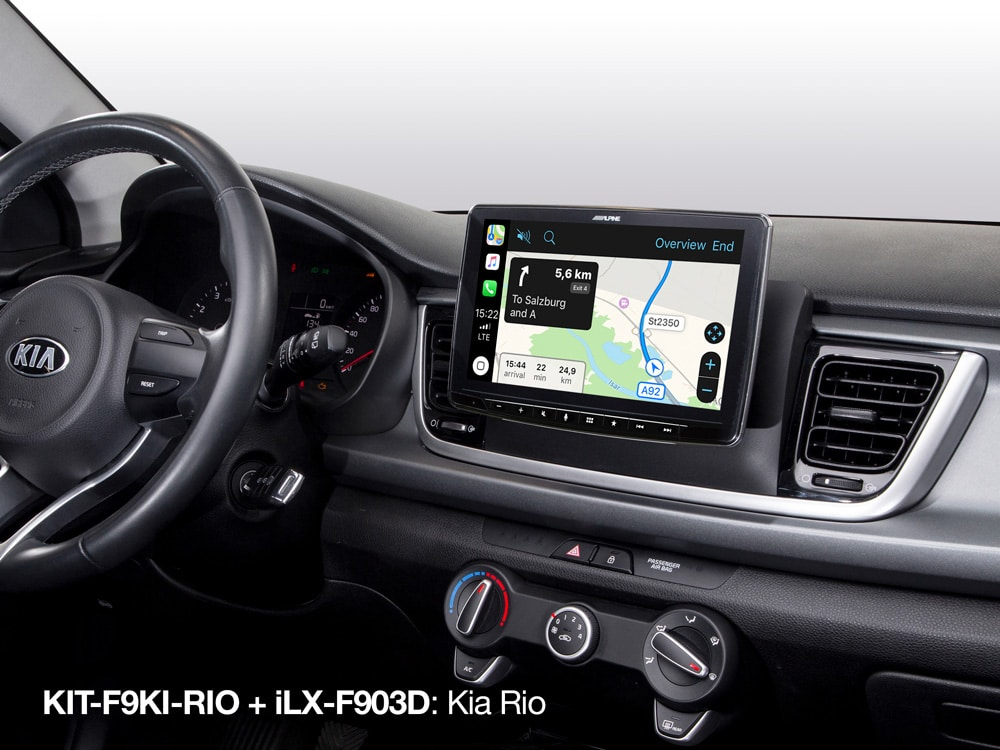 Apple-Carplay-Map-in-Kio-iLX-F903D_with_KIT-F9KI-RIO