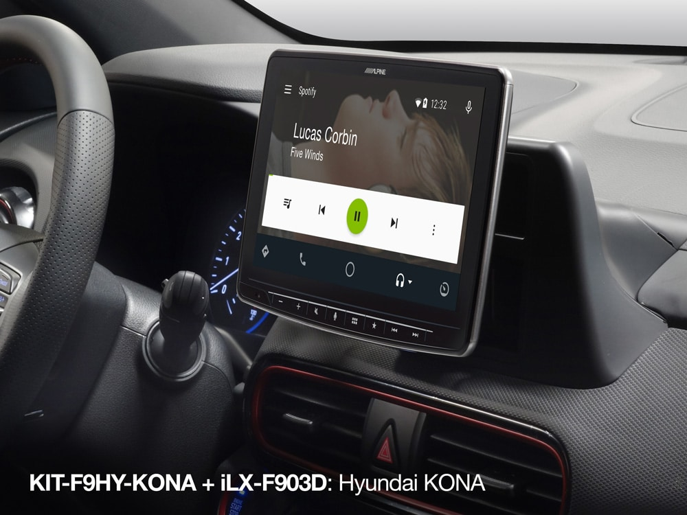 Spotify-Screen-in-Hyundai-Kona_iLX-F903D_with_KIT-F9HY-KONA