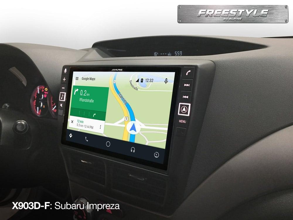 Freestyle-Navigation-System-X903D-F-in-Subaru-Impreza