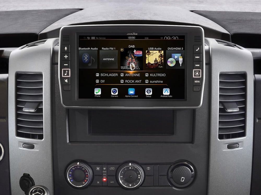 Mercedes-Sprinter-Android-Auto-X903D-S906-Menu