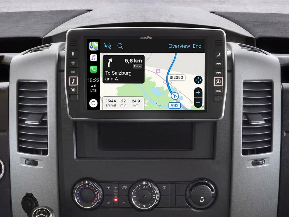 Mercedes-Sprinter-Apple-CarPlay-Map-X903D-S906