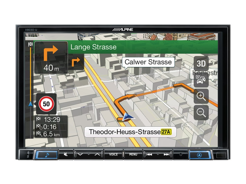 Navigation-System-X803DC-U-3D-map