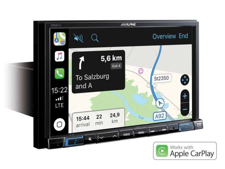 Navigation-System-X803DC-U-Apple-CarPlay-Map