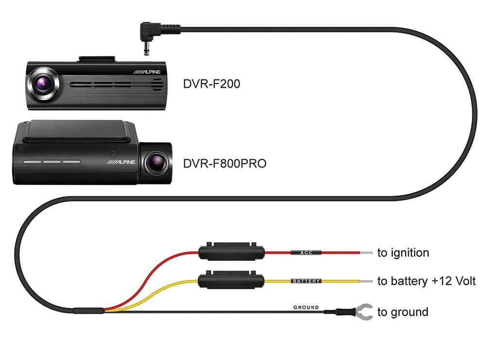 Alpine-ADAS-Dash-Cam_DVR-F800PRO_DVR-F200_Hard-Wire