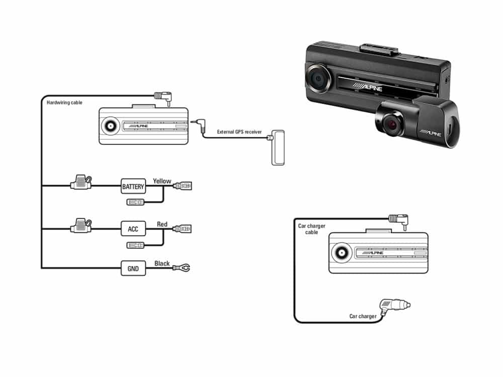DVR-C310S_Dash-Cam-System-Diagramm
