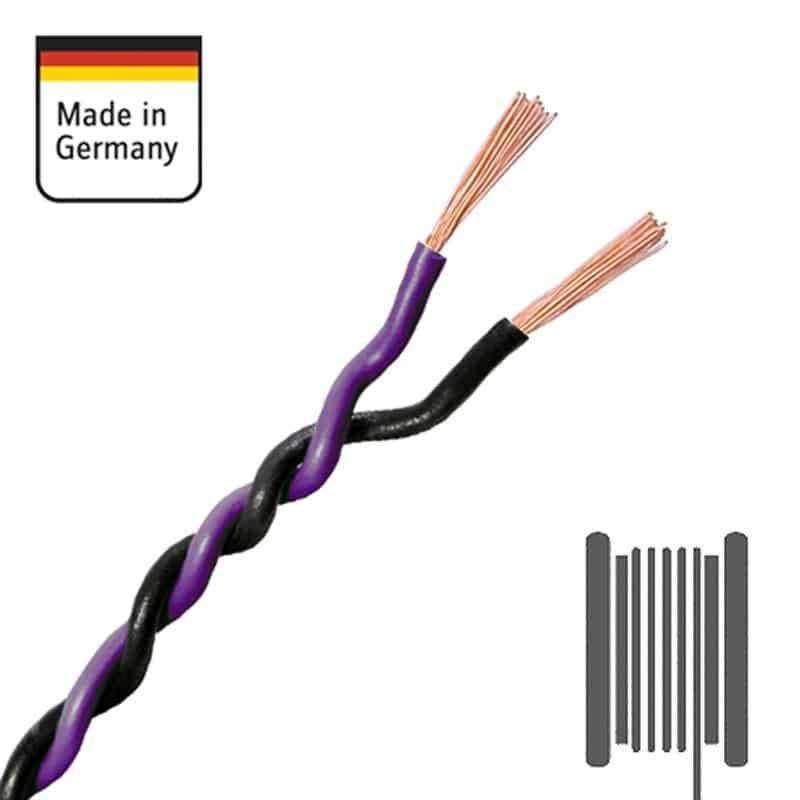 AMPIRE-Verdrilltes-Kabel-VIOLETT-SCHWARZ